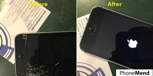iPhone 5SE Screen Replacement in Norwich